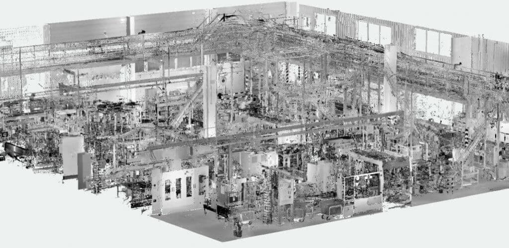 3D lézerszkennelés ipari környezetben pontfelhő