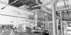 gyártócsarnok felmérése pontfelhő